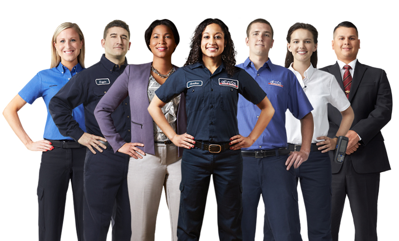 Cintas's workers group photo