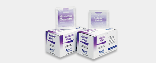 alcohol and antiseptic wipes