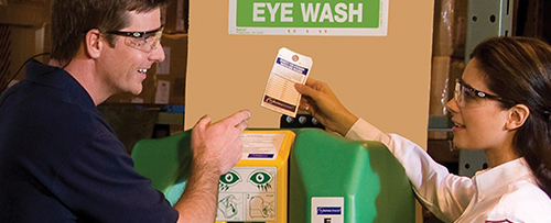eye wash and eye stations