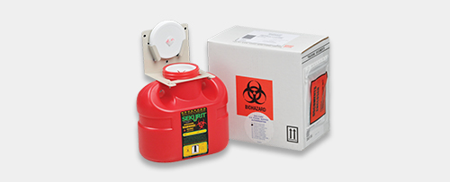 sharps biohazard disposal containers