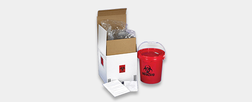 xpedite mail-back sharps medical waste system