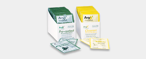 IvyX pre-contact and cleanser