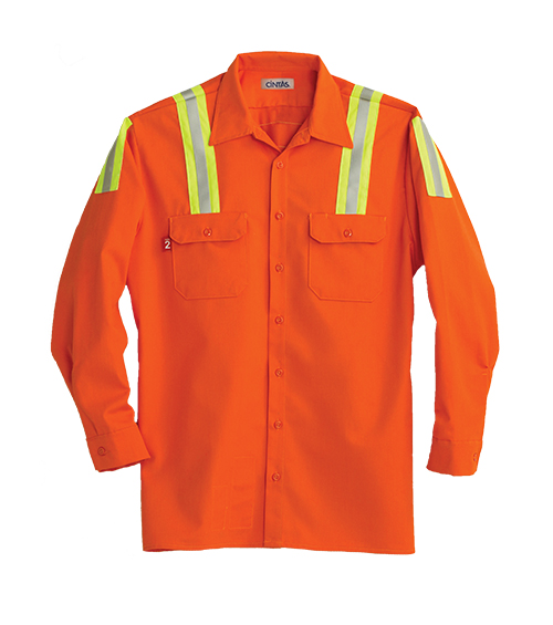 61286 orange e-vis 88/12 workshirt