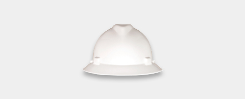 MSA V-Gard, Full Brim Hard Hat
