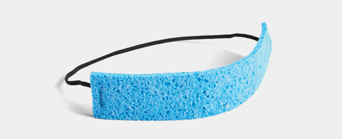 Absorbent cellulose sweatband