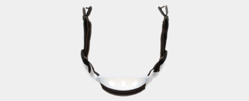 Hard hat chin strap with chin cup