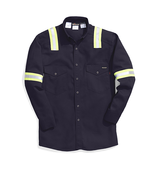 64302 88/12 shirt with reflective trim