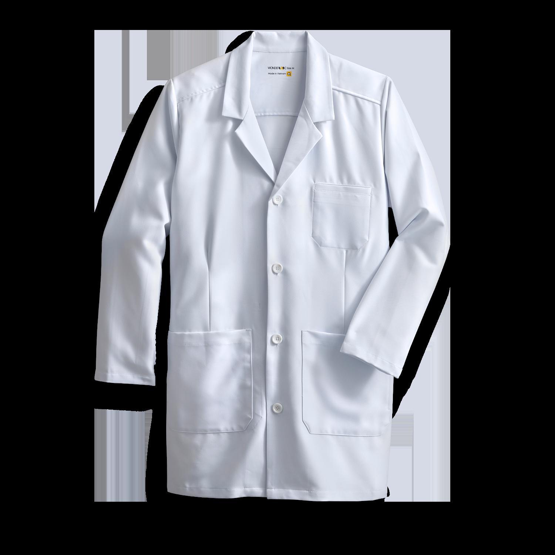 men's full-length white coat