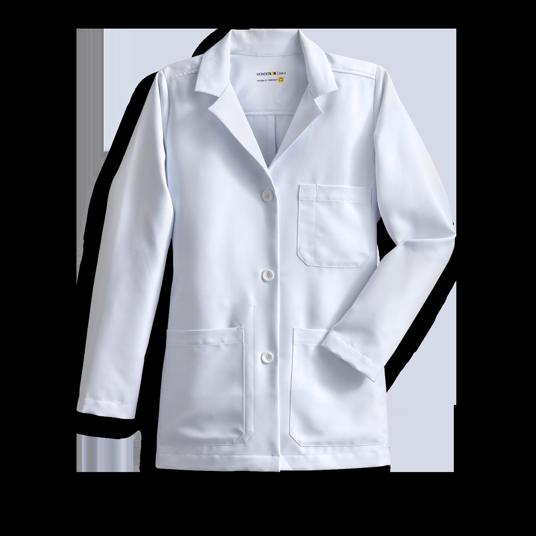 women's full-length white coat