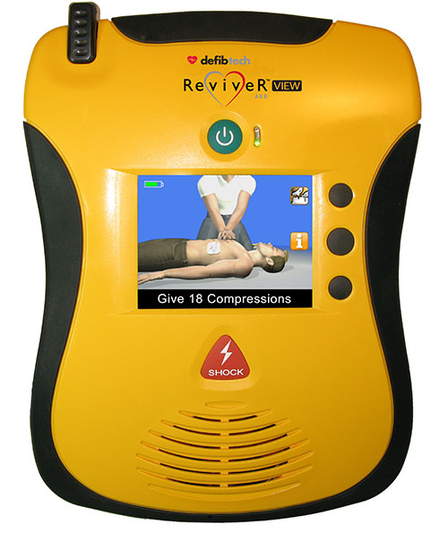 Yellow defibtech Reviver™ View AED