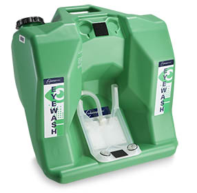 Green Cintas Safety Director™ portable eyewash station