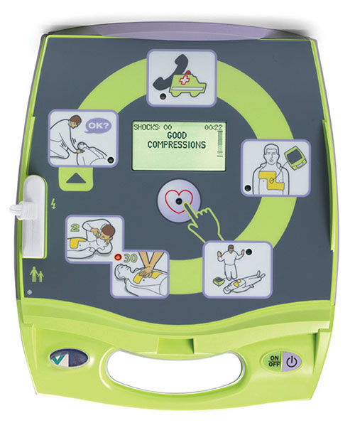 Bright Green Zoll AED Plus AED