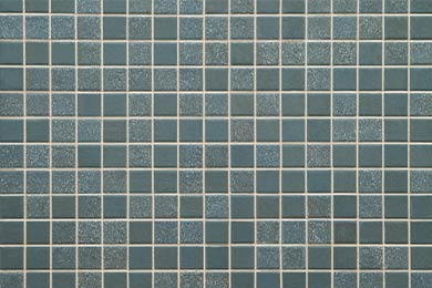 Clean blue bathroom tile and grout after Cintas cleaning