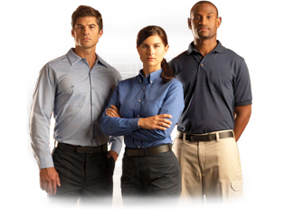 Employees wearing uniforms from Cintas
