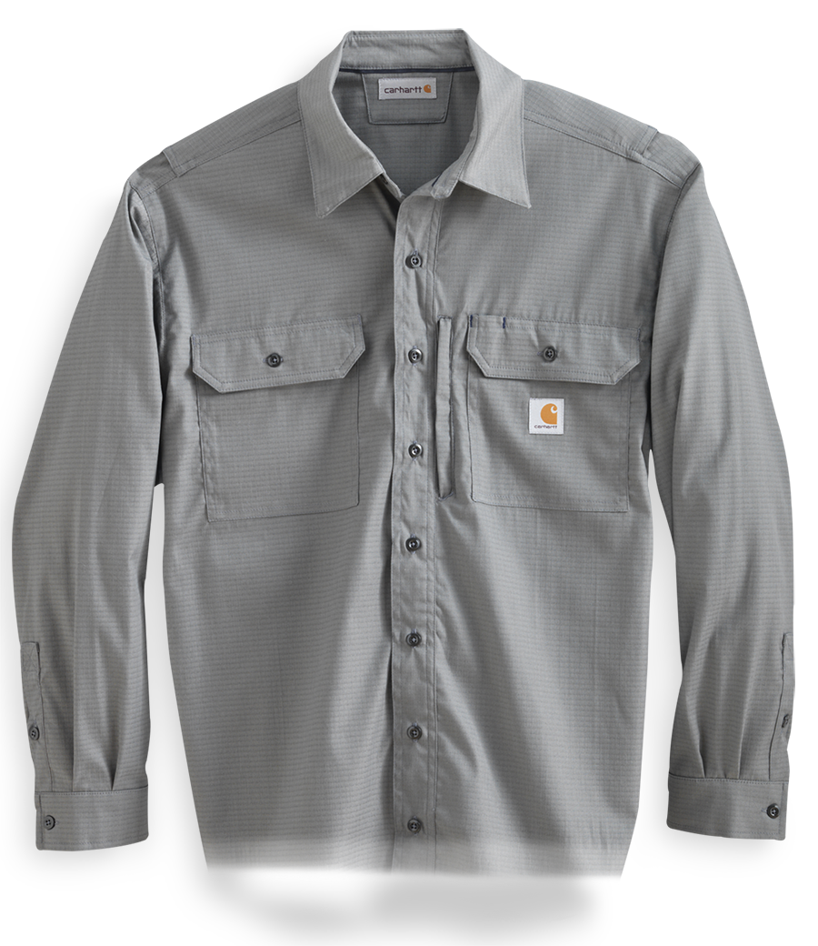 Tan Carhartt collared shirt