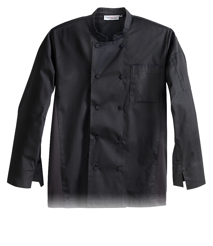 Black signature chef coat