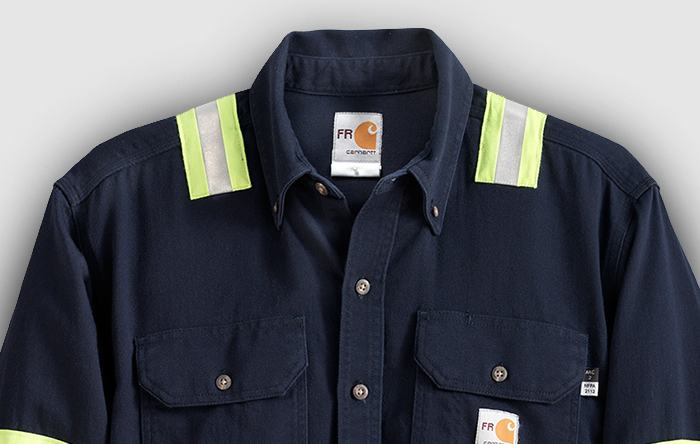 Blue button-down Flame Resistant Clothing thumbnail