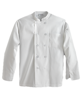 Chefworks Plastic Button Essential Chef Coat
